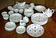 blue and white tableware (Johnson Brothers Danish Blue) | Everyday ...