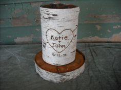 birch bark centerpiece