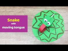 Snake with moving tongue simple, fun and quick craft for kids. - YouTube