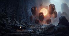 Rising sun trail, Piotr Dura on ArtStation at https://www.artstation.com/artwork/QWLK3