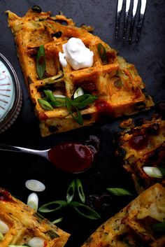 Erin's hash brown waffles, y'all! Holy moly.  via @olivesfordinner