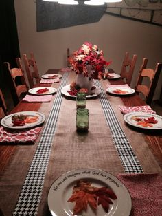 Dining table set for Fall