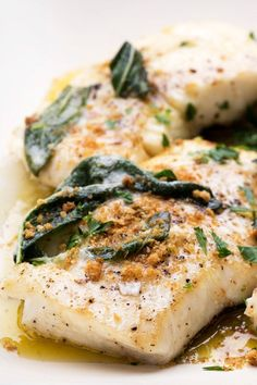 NYT Cooking: This is a simple method for cooking firm, white-fleshed fish on the stovetop from start to finish. If halibut is not available, use thick flounder fillets, snapper, grouper or large sea scallops. The flavor of sage permeates the quick, easy pan sauce and the buttery bread crumbs provide crunchy texture. #seafoodrecipes
