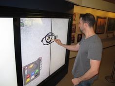 No mucky fingers for museum visitors with digital painting canvas