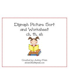 Inside the packet:Digraph picture sort mats (ch, th, sh)Pictures for each digraphWorksheets for each digraph...