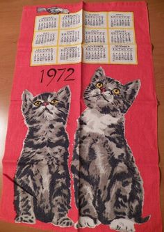 1972 -holy crap, pretty sure we had this dish towel!