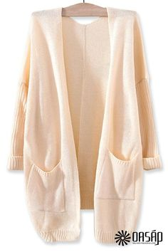 All-Matching Solid Knit Cardigan from OASAP Limited