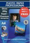 £20  A4 Glossy Photo Paper Super Premium 280g Buy 1 Get...