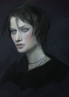 Portrait by Pheberoni on DeviantArt Character Portraits, Character Art, Fantasy Characters, Female Characters, Dragon Age 2, Dragon Book, Fantasy Sword, Dragon Age Inquisition, Sword And Sorcery