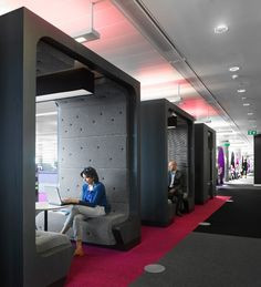 Office Interior Trend: Semi-Private Booths