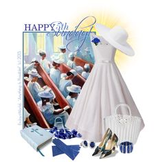 "HAPPY 5th SUNDAY!!! ""We Are Missionaries... by enjoyzworld on Polyvore featuring Bettye Muller, David Yurman, Aqua, Forever 21, bleu, blueandwhite, happysunday and ChurchWear"