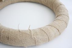 Craft: How to Make a Spring Burlap Wreath with Felt Flowers