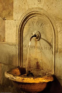 Acqua Marcia is an ancient aqueduct of Rome built in the first century BC.