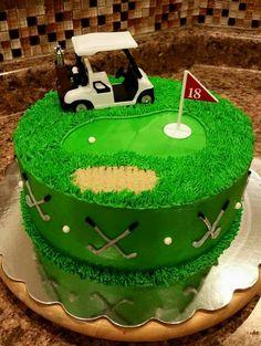Golf grooms cake
