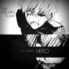 Tokyo Ghoul: Evil is just a broken hero. - Tokyo Ghoul: Evil is just a broken hero. Manga Anime, Film Anime, Sad Anime Quotes, Manga Quotes, Kaneki, Tokyo Ghoul Quotes, Dark Quotes, Dark Anime, Badass Quotes