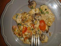 Zum Mittagessen gab es bei nicole mit Räuchertofu-Champignoncréme gefüllte Ravioli - ein träumchen!