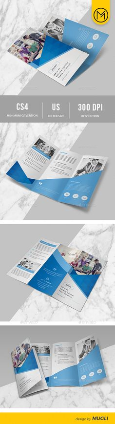 Trifold Brochure Indesign Indd 3 Fold Print Template Available Here Https