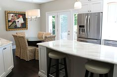 Beautiful Kitchen Renovation By Allure Kitchens  White Cabinetry, Stainless  Steel Appliances, Island With