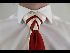 Double Eldredge knot...using two slim ties...looks different..