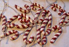 salt dough candy cane ornies by megipupu, via Flickr