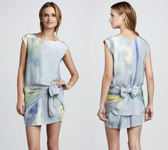 Jennifer Lopez, Miley Cyrus, and Tia Mowry in Watercolor Print Dresses