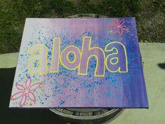 Purple aloha #RastaMamaArt