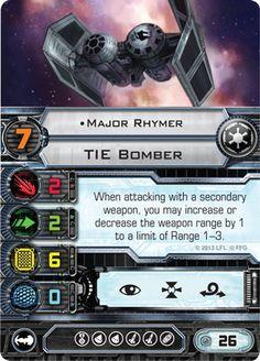 TIE Bomber Major Rhymer