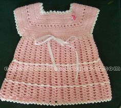 First Baby Dress or Burial Baby Dress free crochet pattern
