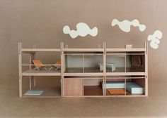 If It's Hip, It's Here: Bauhaus Mini-modernist Doll Houses Promote Karen Walker Paints For Resene Bauhaus Interior, Modern Interior, Bauhaus Architecture, Interior Styling, Modern Dollhouse, Diy Dollhouse, Dollhouse Design, Vintage Dollhouse, Modern Crib