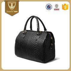 Custom Sling Duffle Women Bag Leather Handbag , Python Snakeskin Travel Bag Manufacturer