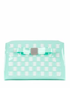 Large bow wash bag - Green | Gift Accessories | Ted Baker