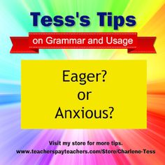 Books by Charlene Tess: Are You Eager or Anxious?