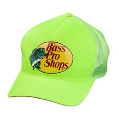 78083861ecc Bass Pro Shops Mesh Canoe Cap - Safety Yellow Mesh Cap
