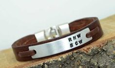 Mens personalized braceletMan braceletCustom Personalized