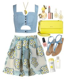 """Lemon Grove Honeybees"" by thewovenwolf ❤ liked on Polyvore featuring Chicnova Fashion, RED Valentino, Tory Burch, DKNY, Monsoon, Clarins, OPI, Marc Jacobs, Kate Spade and Lavanila"