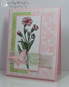 I used the Butterfly Basics stamp set and some of the pretty Irresistibly Yours DSP from Stampin' Up! to create my card to share with you today. My card design was inspired by Mojo Monday 380. I st...