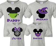 Family disney world halloween shirts matching shirts frankenstein mickey fa Disney World Halloween, Disney Halloween Shirts, Mickey Halloween, Disney Shirts For Family, Disney Family, Shirts For Girls, Halloween Clothes, Disney Costumes, Family Kids