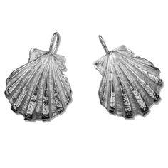 Scallop Shell Earrings (Wire) : Gogo Jewelry #SeaShell #Shell #Jewelry