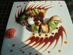 Beautiful fire dragon sushi