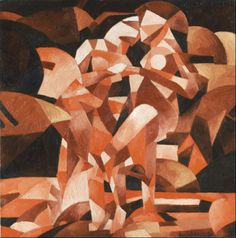 """Francis Picabia, """"The Dance at the Spring,"""" 1912. Oil on canvas, 47 7/16 x 47 1/2 inches (120.5 x 120.6 cm). Philadelphia Museum of Art, Philadelphia. Exhibited at the 1913 Armory Show."""