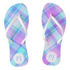 #ad Chart Design, Shades Of Purple, Plaid Pattern, Artwork Design, Flipping, Pink Blue, Flip Flops, Monogram, Prints
