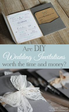 DIY Wedding Invitations I Upcycled Treasures - DIY wedding invitations with a FREE wedding invitation template! Wedding Paper, Wedding Cards, Diy Wedding, Rustic Wedding, Dream Wedding, Perfect Wedding, Free Printable Wedding Invitations, Diy Invitations, Make Your Own Wedding Invitations
