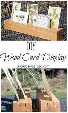 DIY Wood Card Displa