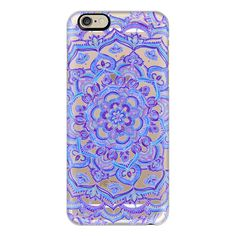 Radiant Cobalt & Royal Purple Mandala on Transparent - iPhone 7 Case,... ($40) ❤ liked on Polyvore featuring accessories, tech accessories, phone cases, phones, telefono, iphone case, slim iphone case, iphone cases, purple iphone case and iphone cover case