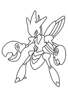 Cizayox, le Pokémon à pinces à colorier