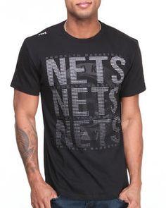 Brooklyn Nets Pinpoint Tee by NBA, MLB, NFL Gear @ DrJays.com
