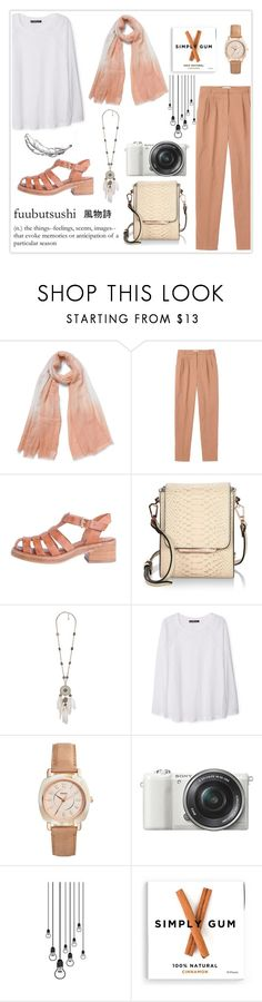 """""""Fuubutsushi"""" by haranata ❤ liked on Polyvore featuring Toast, Kendall + Kylie, MANGO, FOSSIL, Sony, chic, simple, hijab and hijabstyle"""