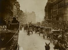High Holborn near Chancery Lane; 1902. Taken from the top of an omnibus. This photo fascinates me as it was taken only 60yrs before I was born and yet the changes London, it's people and the world as a whole was amazing in those 60yrs.