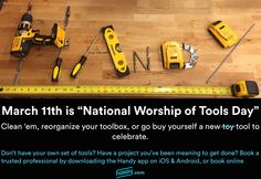 """Today is """"National Worship of Tools Day"""" (no, we aren't making this up!)"""