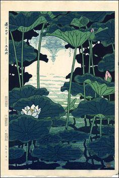 Shade of the Lotus, Shinobazu Pond - 1956 Kasamatsu Shirō (1898-1991),